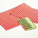 Malutkie naklejki na karty rabatowe - na folii metalicznej.