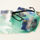 Szmatka z nadrukiem do czyszczenia okularow i innych gladkich powierzchni